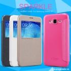 Bao Da Samsung Galaxy J7_Galaxy J700 ( Hiệu NillKin, Sparkle Leather )