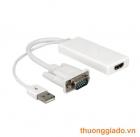 Cáp chuyển đổi từ VGA sang HDMI (kèm cổng usb 2.0)