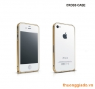 iPhone 4s/ iPhone 4 metal bumper (0.7mm) hiệu Cross Case