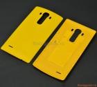 Nắp lưng (nắp đậy pin) LG G4 F500 Màu vàng (Nhựa giả da)