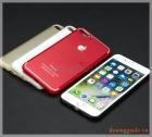 """Ốp lưng silicone iPhone 7 Plus (5.5"""") mặt sau dán hợp kim nhôm khắc logo và imei"""