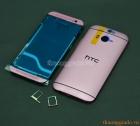 Bộ Vỏ HTC One (M8) Màu Hồng Phớt Original Housing