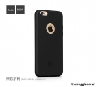 Ốp lưng silicon iPhone 6s, iPhone 6, siêu mỏng, màu đen, hiệu HOCO, JUICE Series