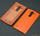 Nắp lưng (nắp đậy pin) LG G4 F500 Màu da cam (Nhựa giả da)