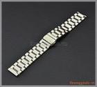 Dây đồng hồ Samsung Gear S2 Classic chất liệu thép không gỉ màu bạc, mắt dây to