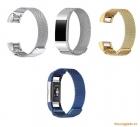 Dây đồng hồ Fitbit Charge 2 (thép không gỉ, mắt lưới thép siêu nhỏ)