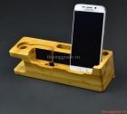 Kệ tre giữ điện thoại trên bàn,iPhone 6S, iPhone 6s plus, apple watch (mẫu 1)