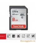 Thẻ nhớ Sandisk Ultra 8Gb SDHC Card tốc độ ghi lên tới 40Mb/s