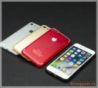 """Ốp lưng silicone iPhone 7 (4.7"""") mặt sau dán hợp kim nhôm có logo và imei"""