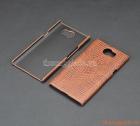 Ốp lưng nhựa giả da cá sấu cho BlackBerry Priv (màu nâu)