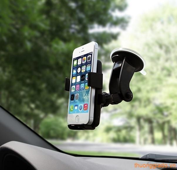 Kẹp giữ đa năng sử dụng bằng một tay cho điện thoại trên xe hơi (cổ ngắn)