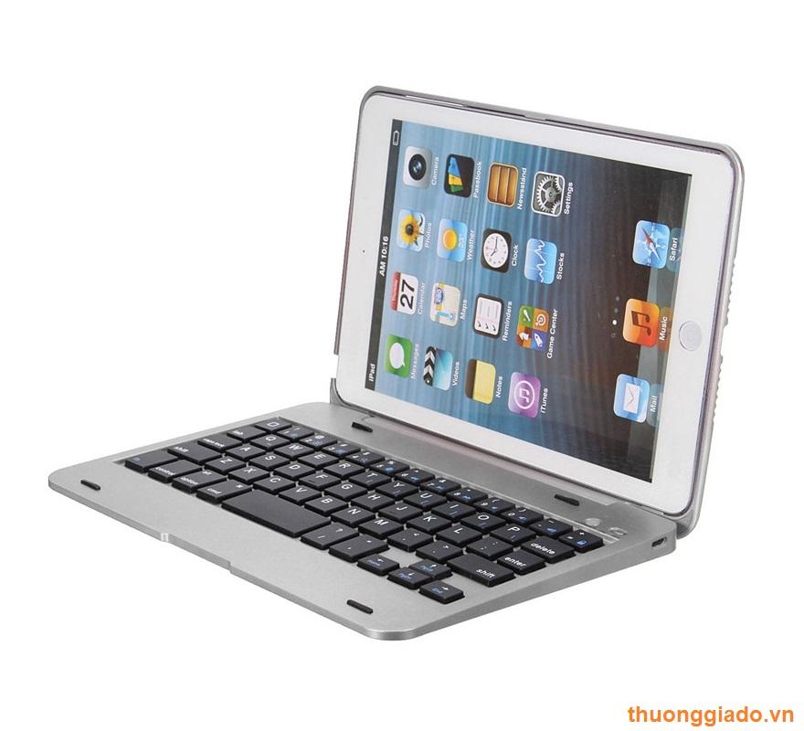 Bàn phím nhôm+case nhựa cho iPad mini 1, iPad mini 2, iPad mini 3 Bluetooth Keyboard
