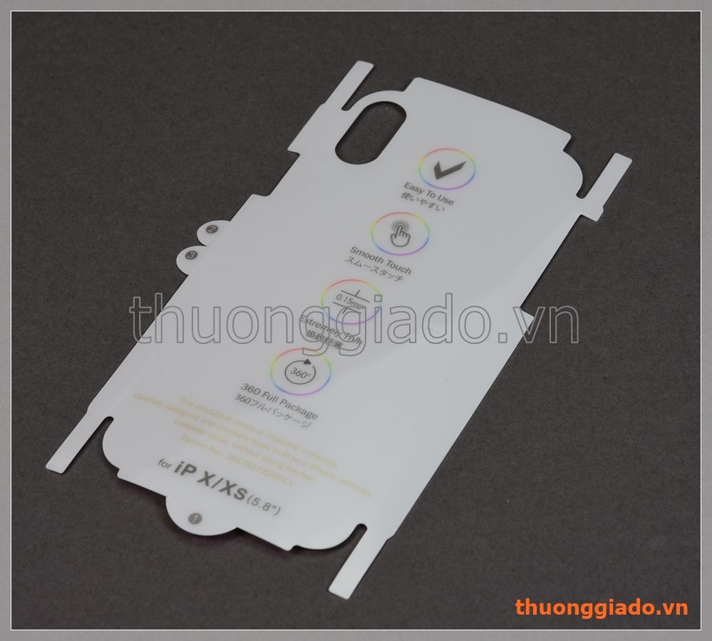"""Miếng dán lưng và sườn iPhone Xs (5.8""""), iPhone X (5.8""""), 360 full package"""