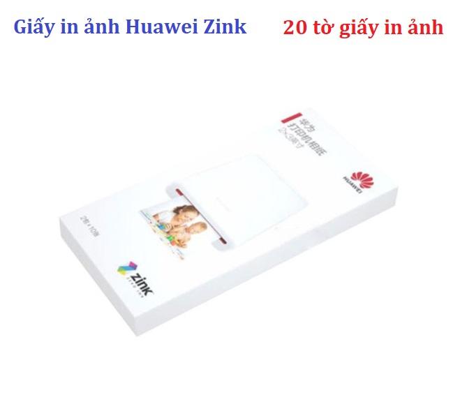 Giấy in ảnh Huawei Zink , khổ 2 x 3 inch (50 x 76m), 20 tờ
