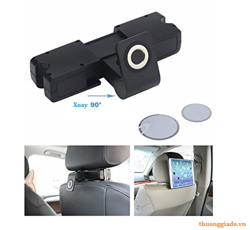 Đế giữ điện thoại/ máy tính bảng sau gối tựa đầu trên ô tô/ xe hơi