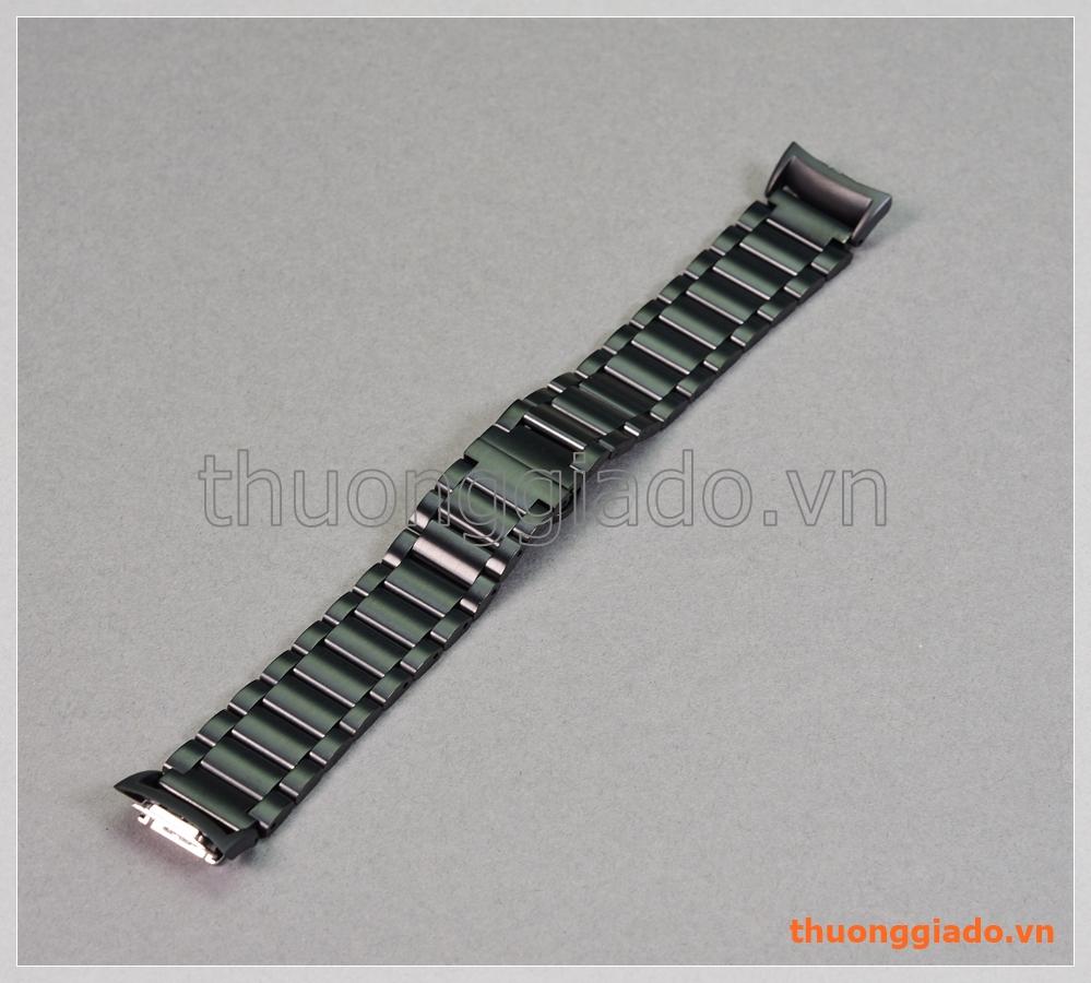 Dây đồng hồ Samsung Gear Fit 2/ R360, Fit2 Pro/ R365 (thép không gỉ, một hàng 3 mắt)