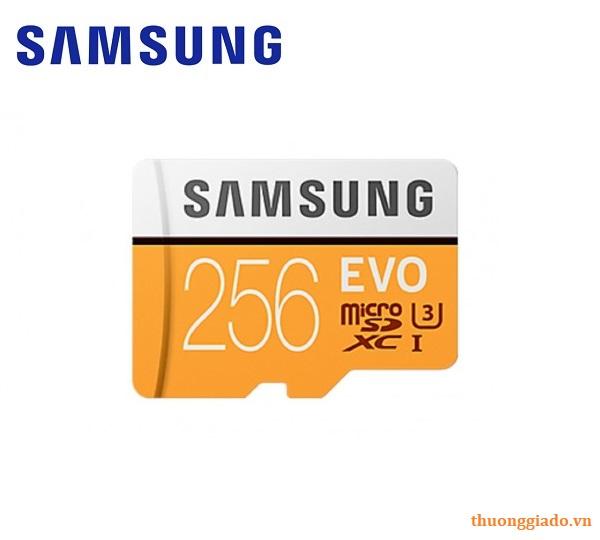 Thẻ nhớ Samsung EVO 256GB MicroSDXC 100MB/s UHS-I Class10 U3 4K,N950,G965,G960