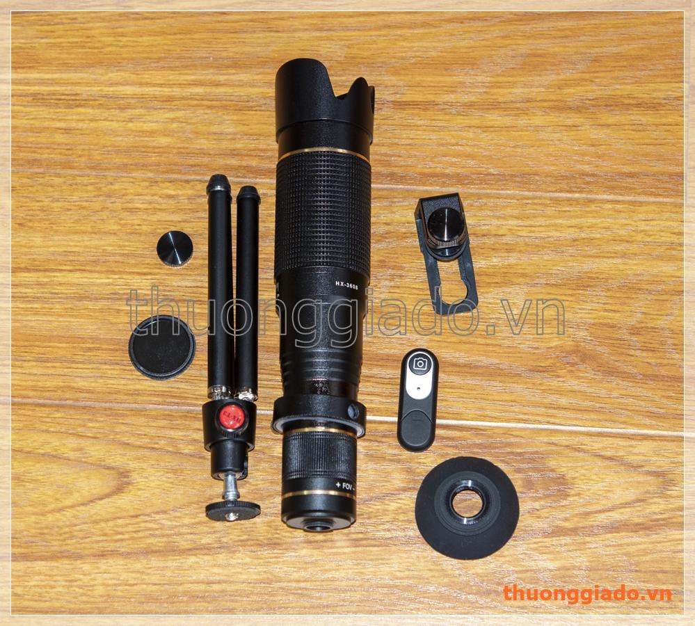 Ống nhòm kiêm lens chụp ảnh telephoto zoom 36X cho điện thoại