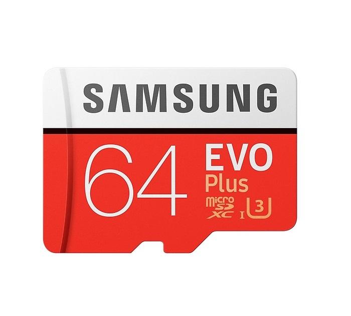 Thẻ Nhớ Micro SD Samsung Evo Plus 64GB U3 Class 10 - 100MB/s chính hãng