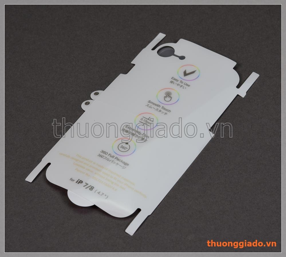 """Miếng dán lưng và sườn iPhone 8 (4.7""""), iPhone 7 (4.7""""), 360 full Package"""