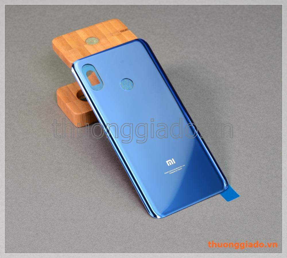 """Thay kính lưng Mi 8 (6.21""""), nắp đậy pin Mi8 màu xanh"""