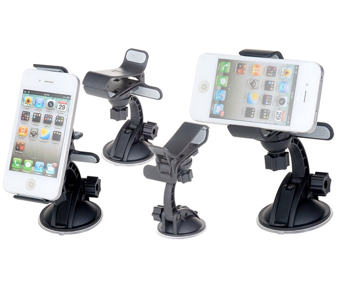 Car Universal Holder (Loại kìm kẹp) iPhone 5,iPhone 4,i9100,i9300,i9500,N7000,N7100,Note 3