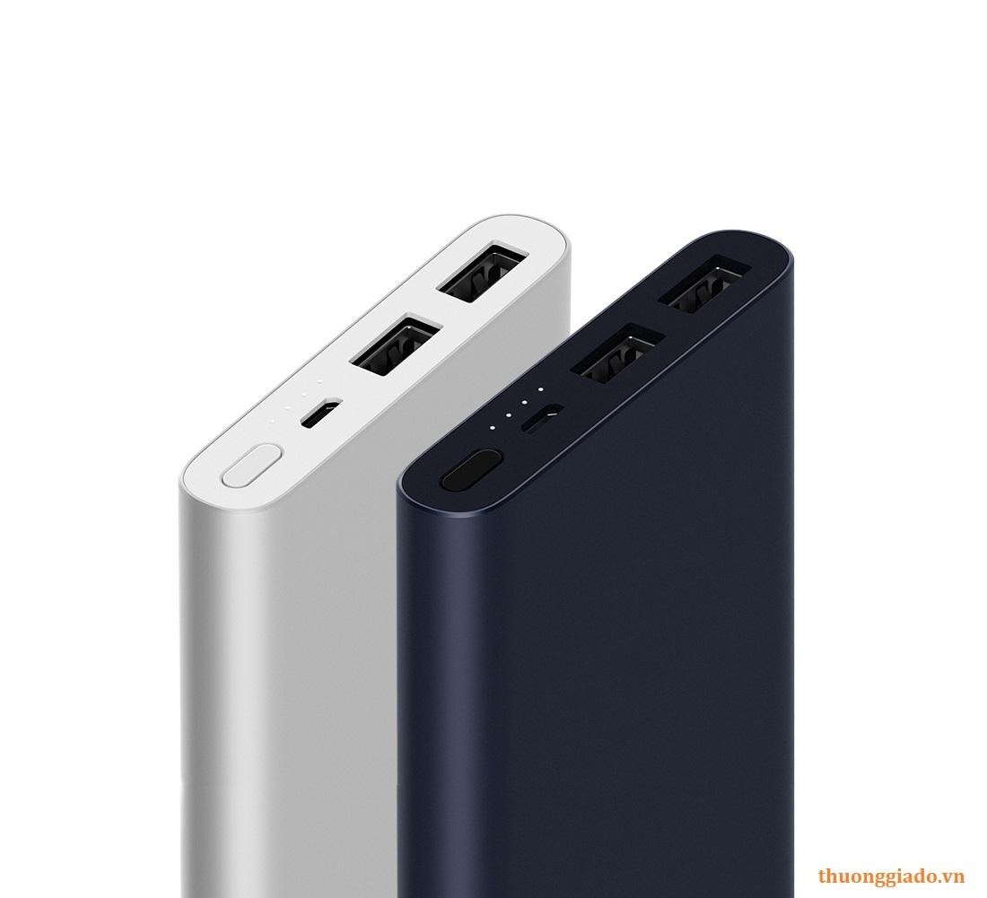 Pin sạc dự phòng Xiaomi 10000mAh (bản 2S), 2 cổng usb, Lithium polymer