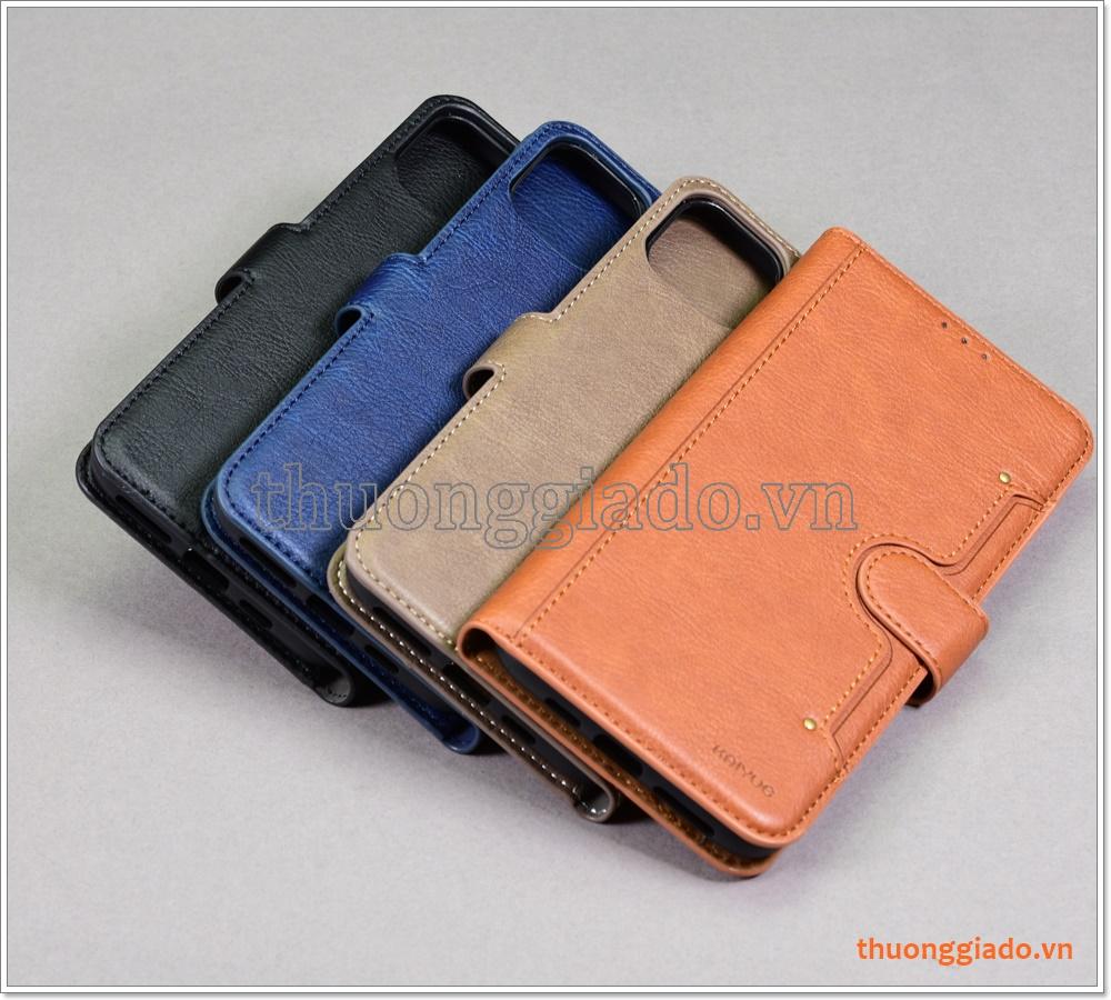 Bao da iPhone 11 Pro Max, Bao da cầm tay, chất liệu da bò, hiệu Kaiyue