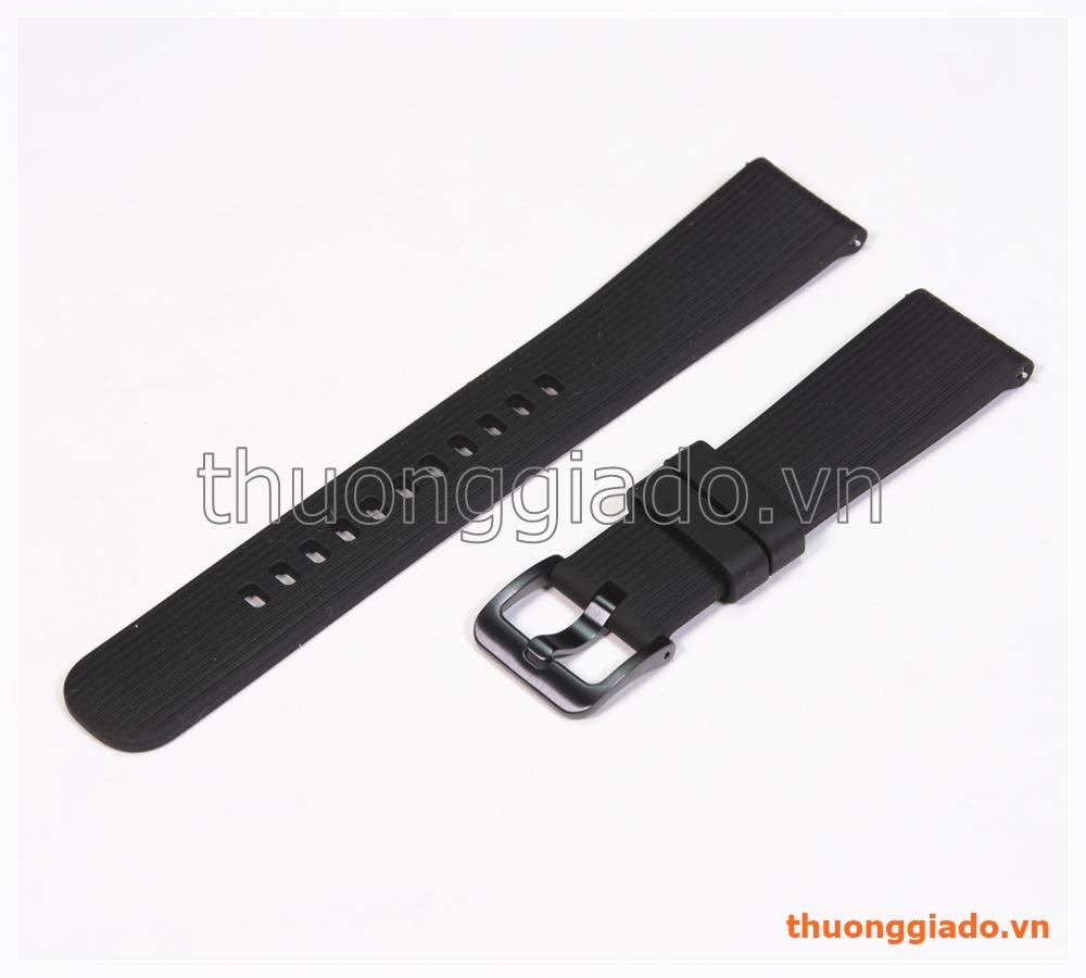 Dây đồng hồ Samsung Galaxy Watch 42mm, Gear S2 Classic màu đen, hàng chính hãng