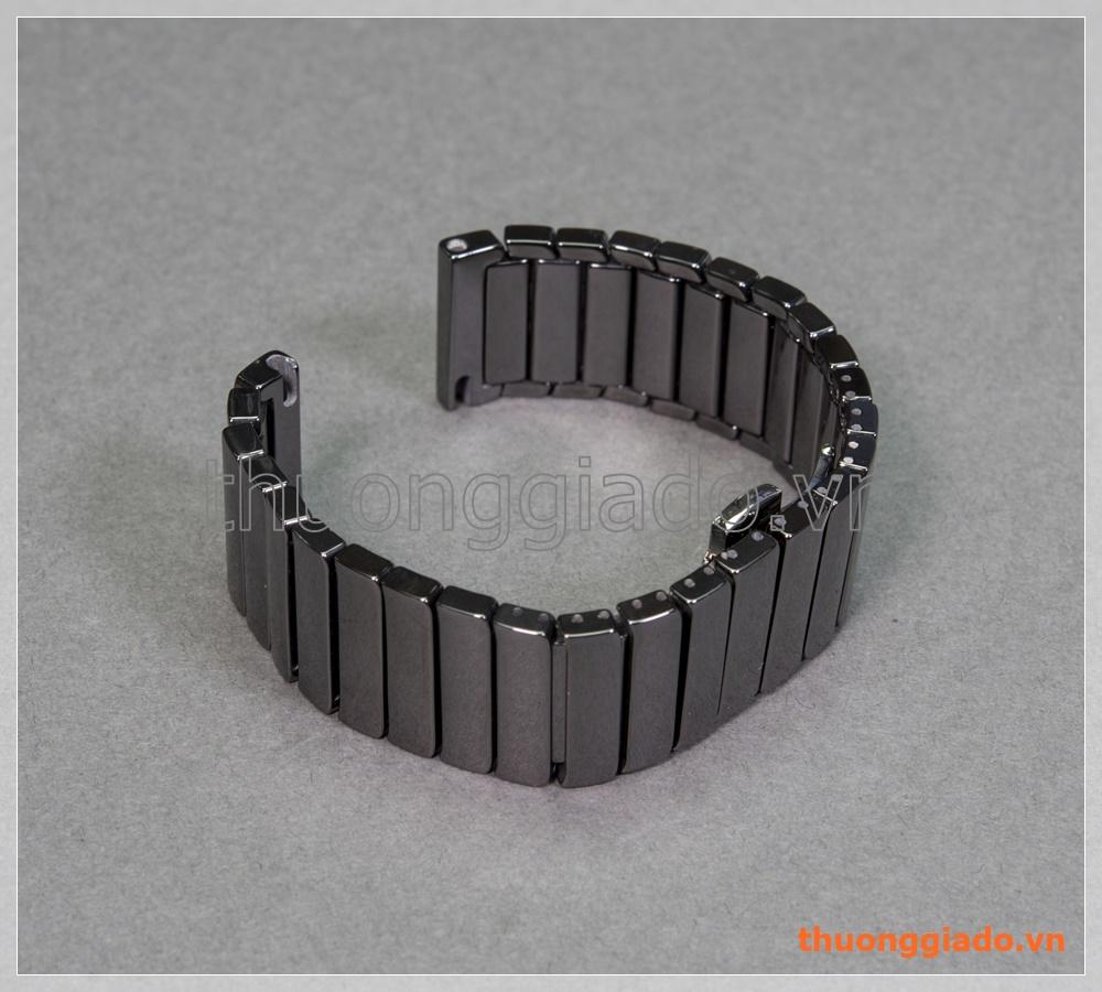 Dây đồng hồ Samsung Gear S3 classic, Gear S3 frontier (gốm sứ ceramic, màu đen)