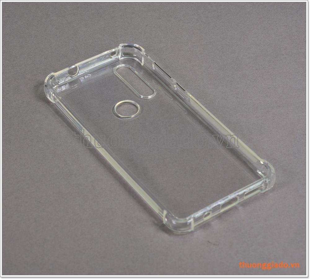 Ốp lưng Silicone Motorola G8, ốp dẻo trong suốt, tăng cường chống sốc 4 góc