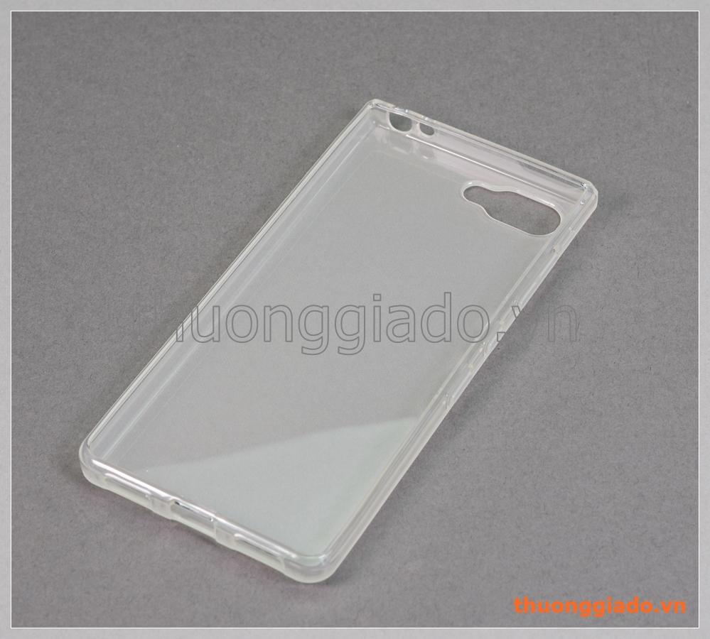 Ốp lưng silicone Blackberry Key2 Lite, ốp dẻo trắng mờ đục