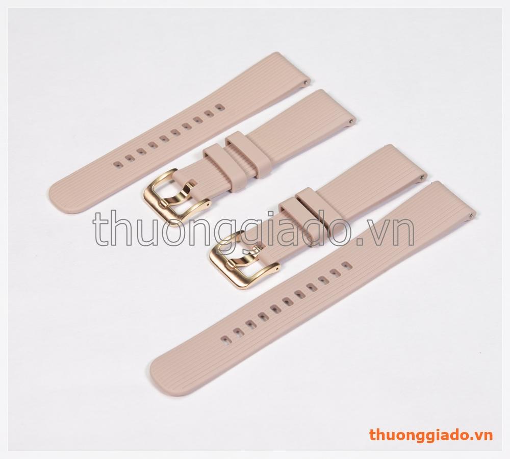Dây đồng hồ Samsung Galaxy Watch 42mm, Gear S2 Classic màu vàng hồng, hàng chính hãng