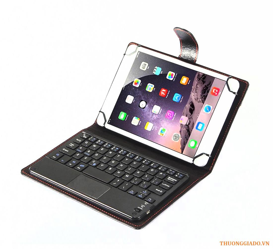 """Bàn phím bluetooth đa năng kèm bao da (kích cỡ 7"""" - 8""""), có touchpad"""