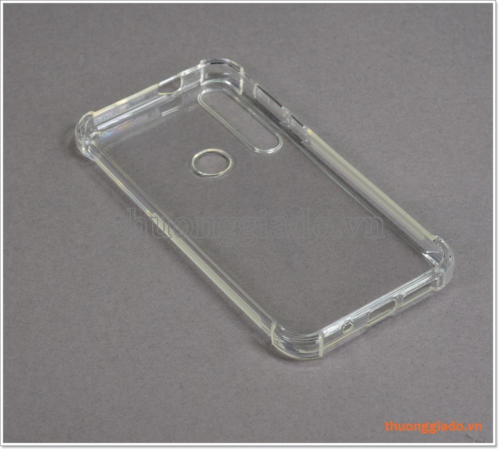Ốp lưng Silicone Motorola G8 Plus, ốp dẻo trong suốt, tăng cường chống sốc 4 góc