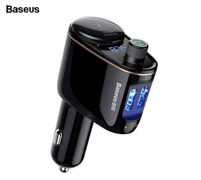 Củ sạc ô tô Baseus S-06, tích hợp FM Bluetooth MP3