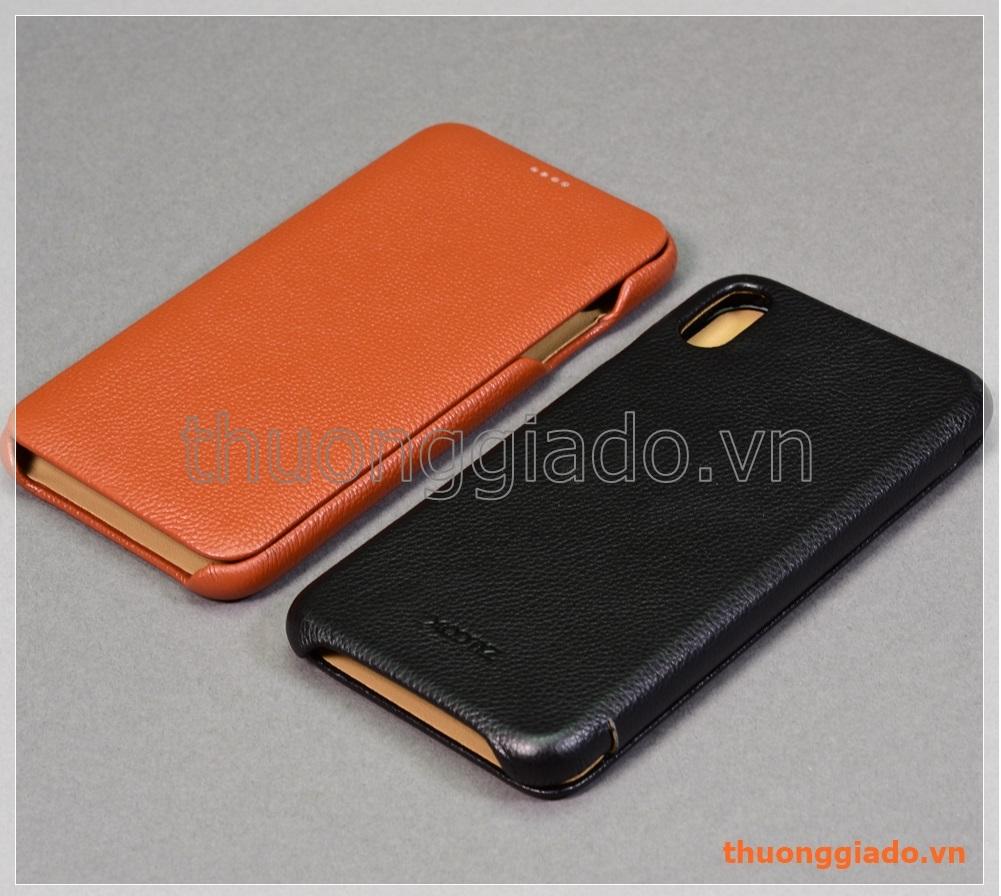 """Bao da cầm tay iPhone Xs Max (6.5""""), hiệu Xoomz (da bò thật)"""