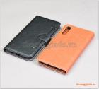 Bao da Samsung Galaxy A50, bao da cầm tay, chất liệu da bò, hiệu Kaiyue