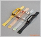 Dây đeo tay thay thế cho Mi Band 3 (hợp kim, mắt lưới, khóa hít nam châm)