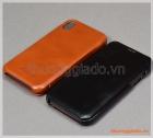 """Bao da cầm tay iPhone XR (6.1""""), hiệu ICarer, da bò mịn"""