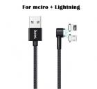 Cáp sạc usb lightning + Micro usb, đầu hít nam châm (HOCO U20 USB Cable)