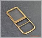 Mặt kính và viền hợp kim mặt trước Nokia 6700c màu vàng gold