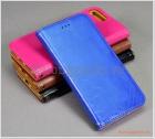 Bao da iPhone 7 Plus/ iPhone 8 Plus, bao da cầm tay, da bò, mặt mịn, màu sắc