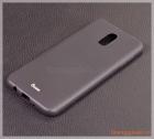 Ốp lưng silicone Samsung J7 Plus/  C710 (màu đen, hiệu VU case)