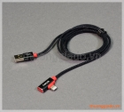 Cáp sạc usb WIWU Lightning Audio Cable (bọc dây dù, hỗ trợ thêm cổng cắp tai nghe)