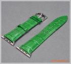 Dây đồng hồ Apple Watch 42mm (da cá sấu, màu xanh lục)