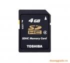 Thẻ nhớ SDHC 4Gb Toshiba (hàng chính hãng)