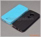 Bao da cầm tay Moto G6 Play, Motorola flip leather case, hiệu Vili