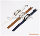 Dây đeo tay Mi band 3 (da bò+hợp kim), mẫu 1