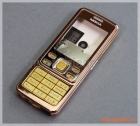 Bộ vỏ Nokia 6300 màu nâu vàng (viền+nắp nắp lưng màu nâu), hàng zin